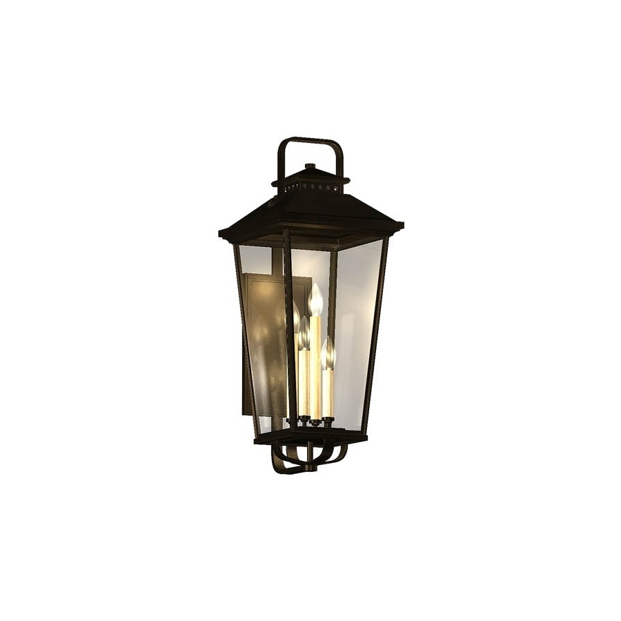Preferred Outdoor Wall Lighting At Lowes Inside Shop Allen + Roth Parsons Field 22 In H Black Outdoor Wall Light At (View 14 of 20)
