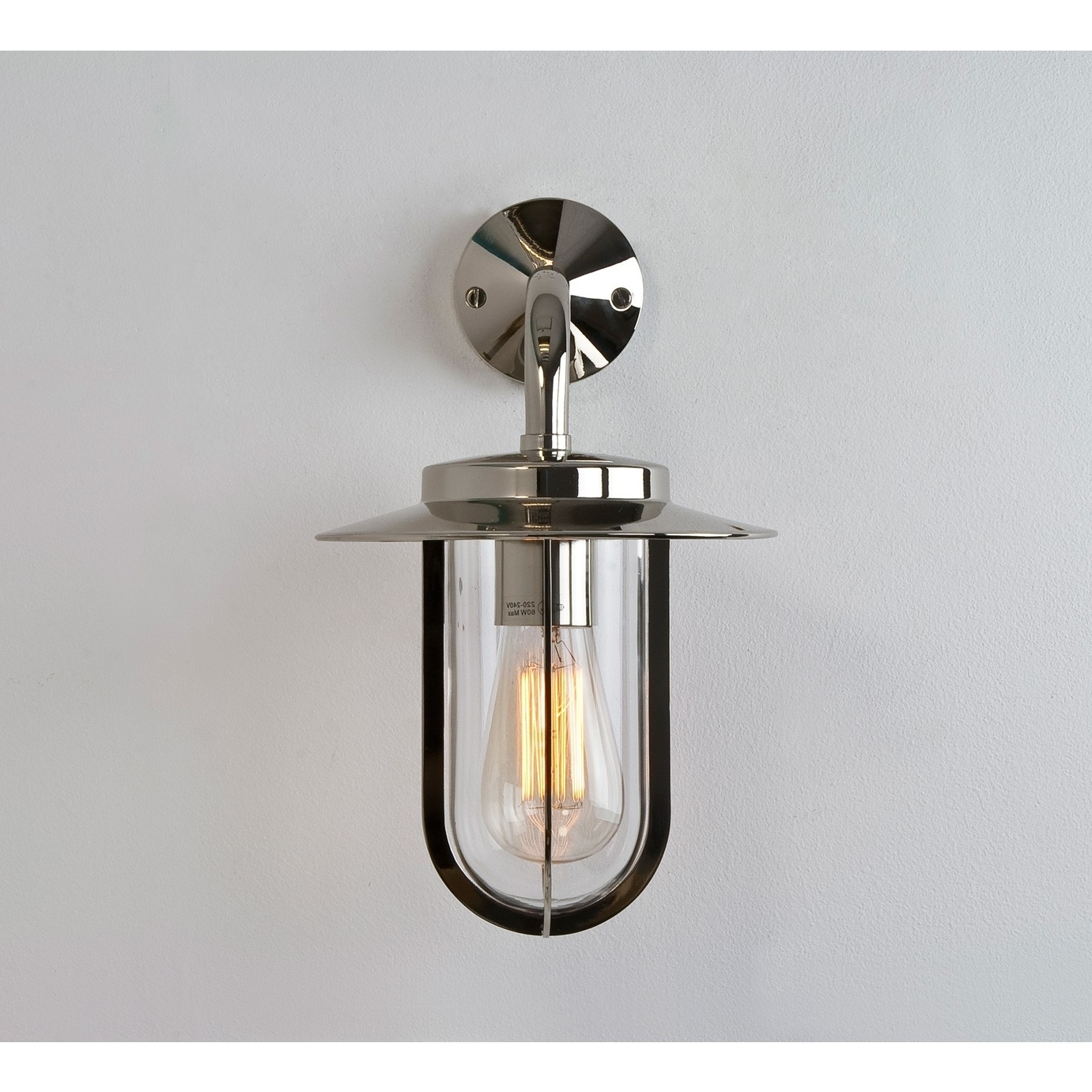 Preferred Polished Nickel Outdoor Wall Sconce • Wall Sconces For Nickel Polished Outdoor Wall Lighting (View 7 of 20)