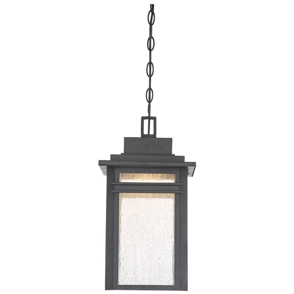 """Preferred Quoizel Outdoor Hanging Lights With Regard To Quoizel Beacon 17""""h Stone Black Led Outdoor Hanging Light – Style (View 20 of 20)"""