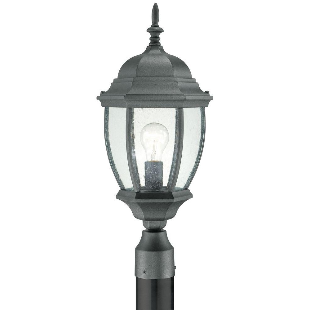 Preferred Thomas Lighting Covington 1 Light Outdoor Black Post Lantern Sl90107 Intended For Wayfair Led Post Lights (View 9 of 20)