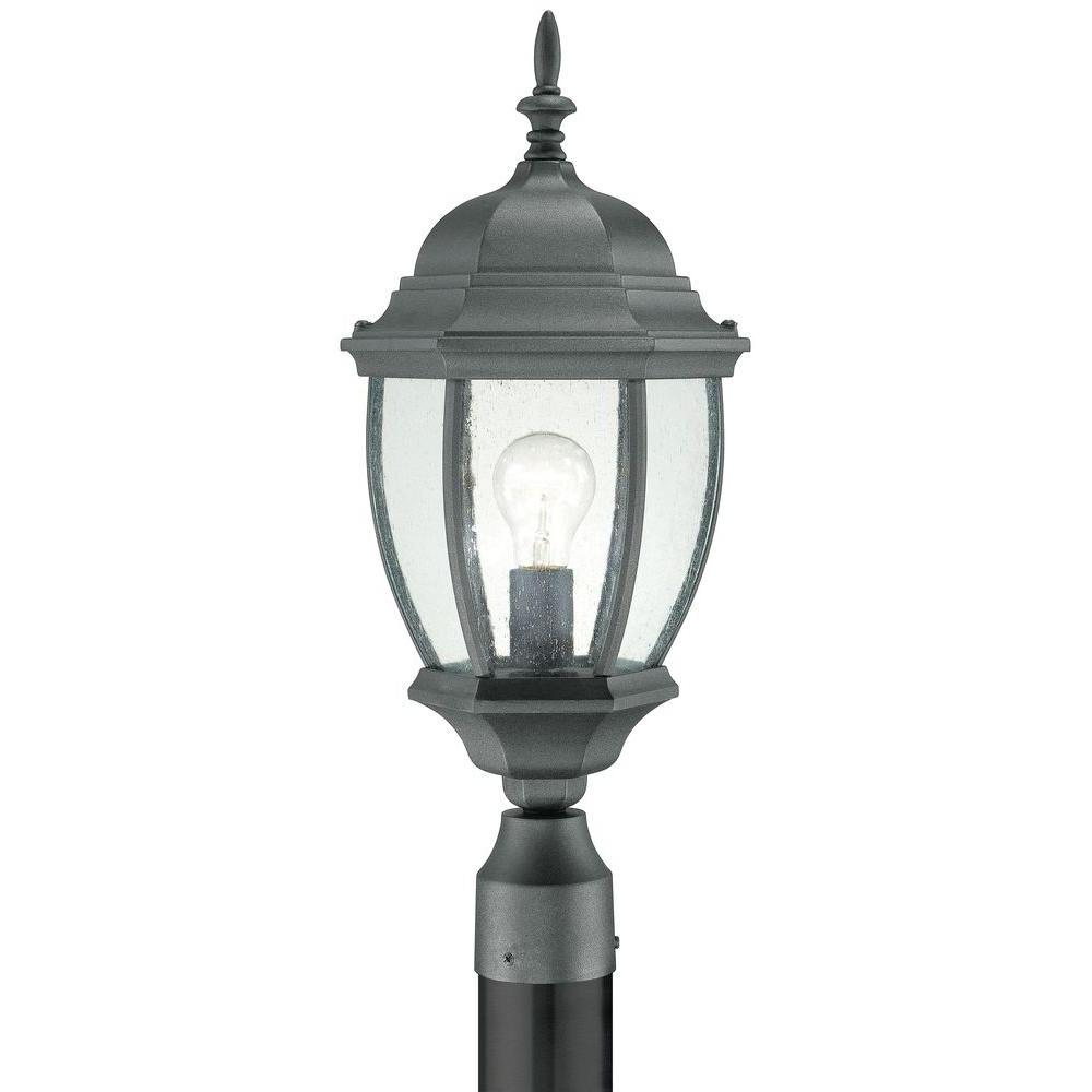 Preferred Thomas Lighting Covington 1 Light Outdoor Black Post Lantern Sl90107 Intended For Wayfair Led Post Lights (View 11 of 20)