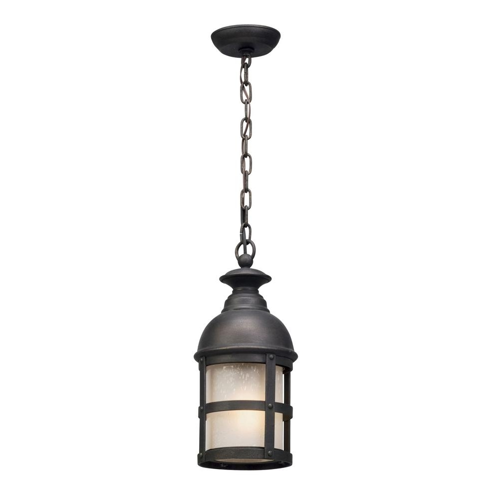 Preferred Troy Outdoor Hanging Lights With Regard To Troy Lighting Webster 1 Light Vintage Bronze Outdoor Pendant F (View 9 of 20)