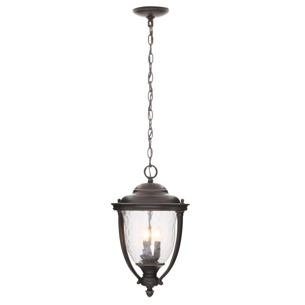 Progress Lighting Prestwick Collection 3 Light Oil Rubbed Bronze With Regard To Latest Oil Rubbed Bronze Outdoor Hanging Lights (View 11 of 20)