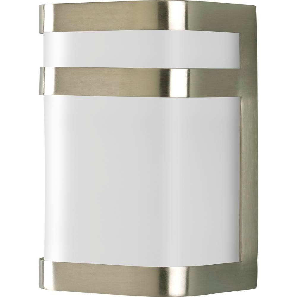 Progress Lighting Valera Collection 1 Light Outdoor Brushed Nickel In Best And Newest Nickel Outdoor Wall Lighting (View 7 of 20)