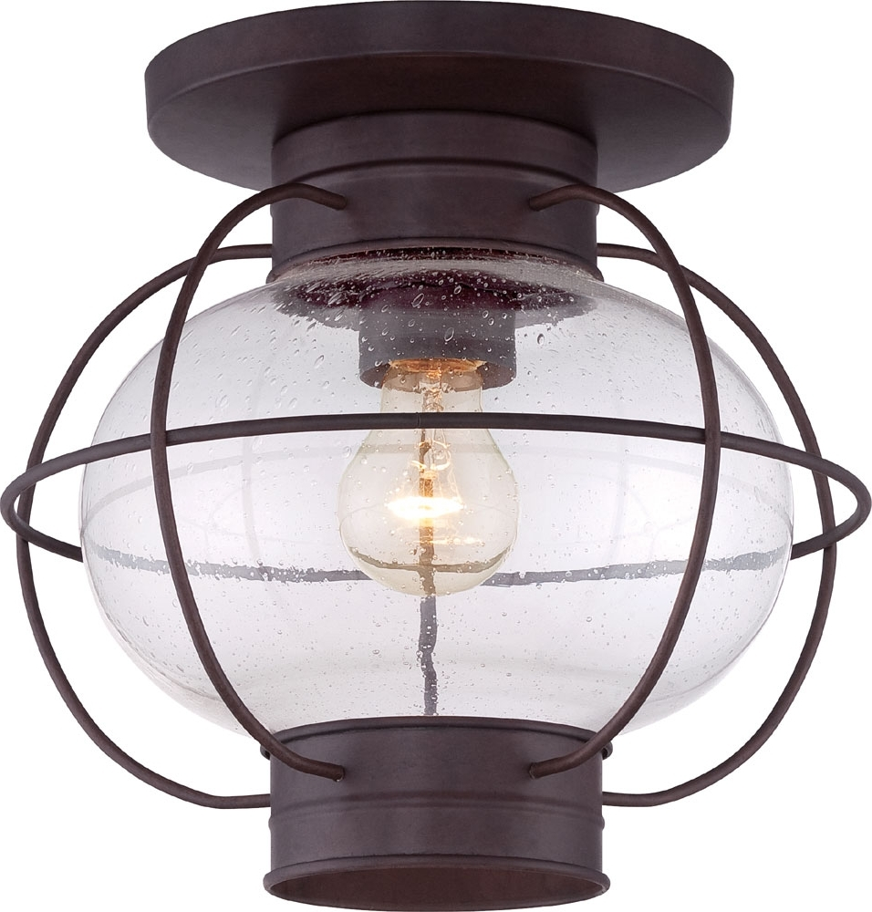 Quoizel Cor1611Cu Cooper Vintage Copper Bronze Outdoor Ceiling Light Intended For Most Recent Vintage Outdoor Ceiling Lights (Gallery 1 of 20)
