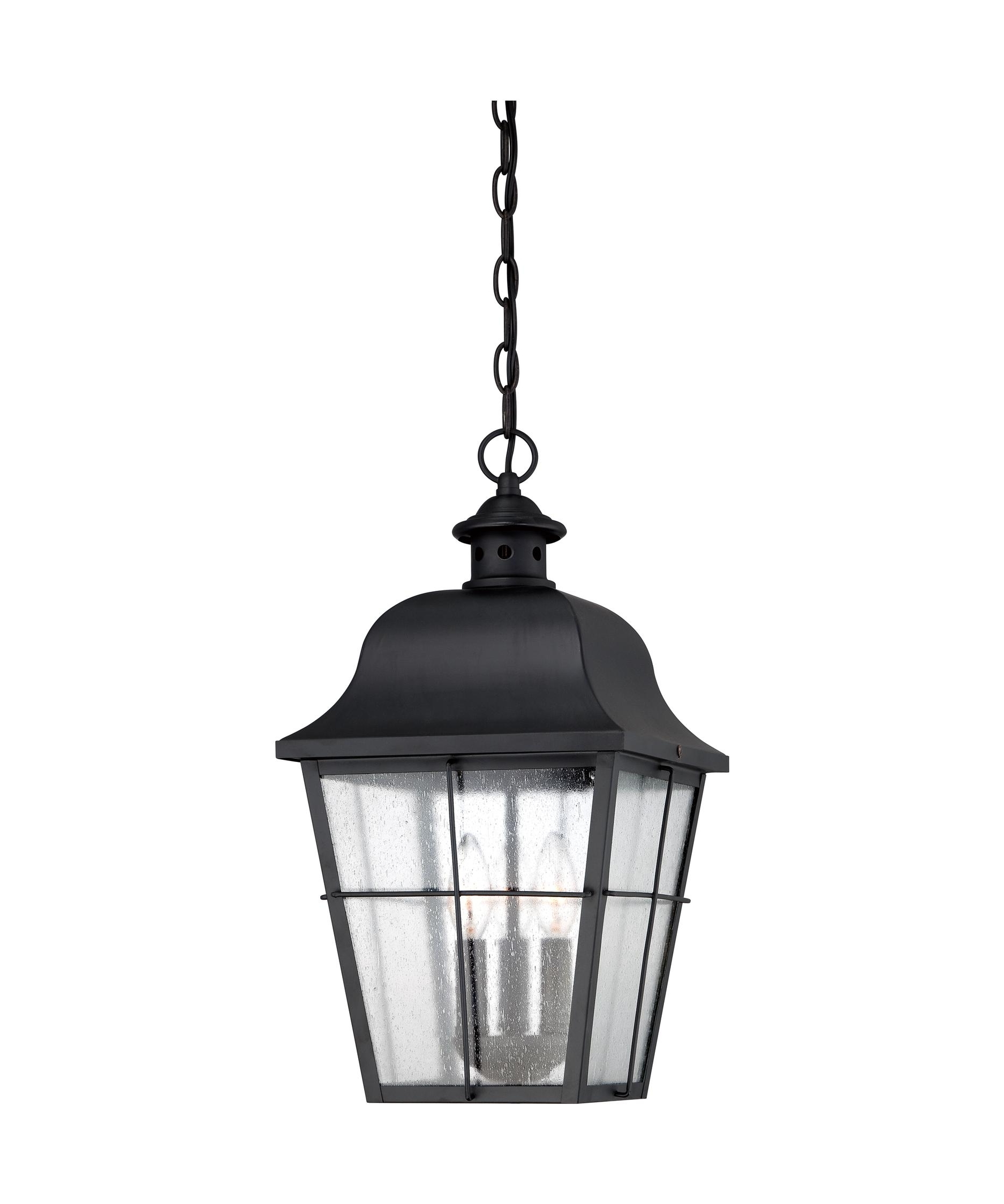 Quoizel Outdoor Hanging Lights With Regard To Well Liked Quoizel Mhe1910 Millhouse 10 Inch Wide 3 Light Outdoor Hanging (Gallery 11 of 20)