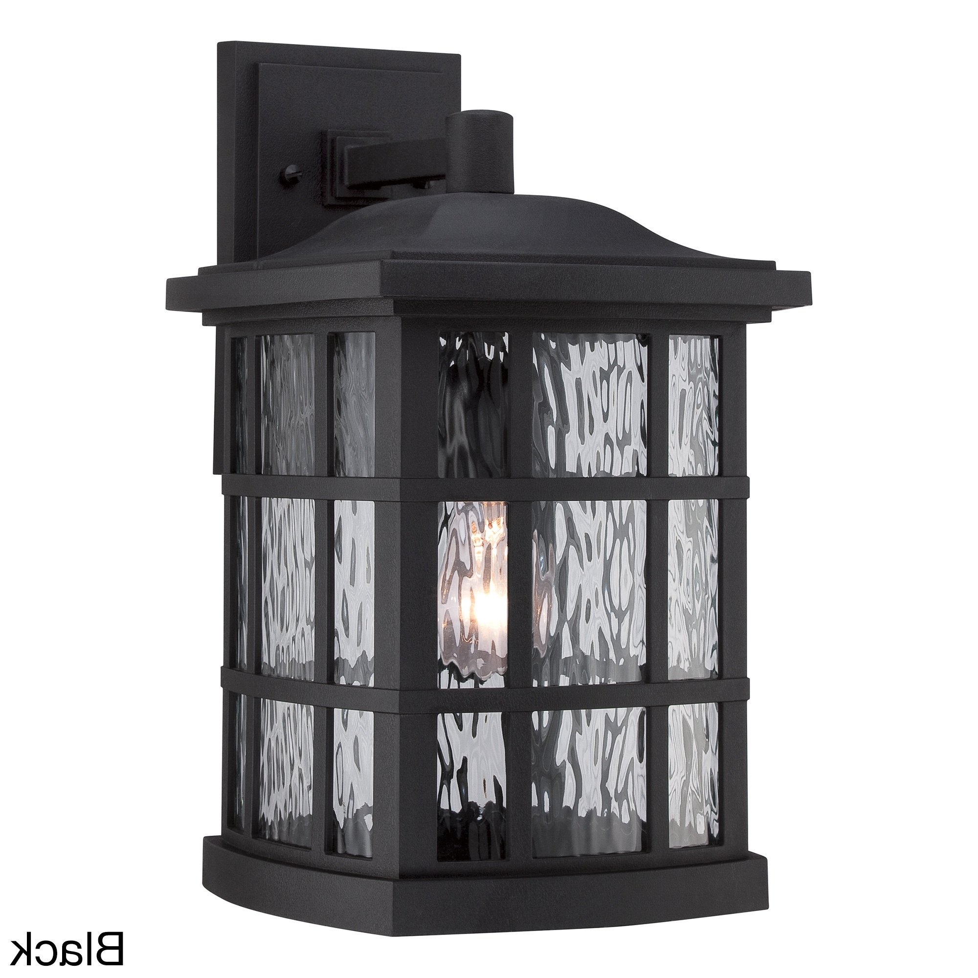 Quoizel Outdoor Wall Lighting Inside Current Quoizel Coastal Armour Stonington 1 Light Mystic Black Large Wall (View 11 of 20)