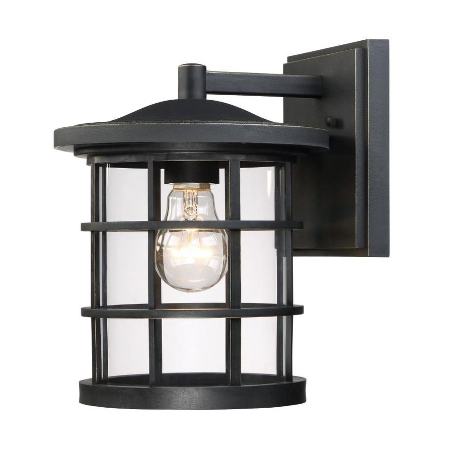 Quoizel Outdoor Wall Lighting Inside Well Known Shop Quoizel Asheville 10.5 In H Dark Oil Rubbed Bronze Outdoor Wall (Gallery 4 of 20)