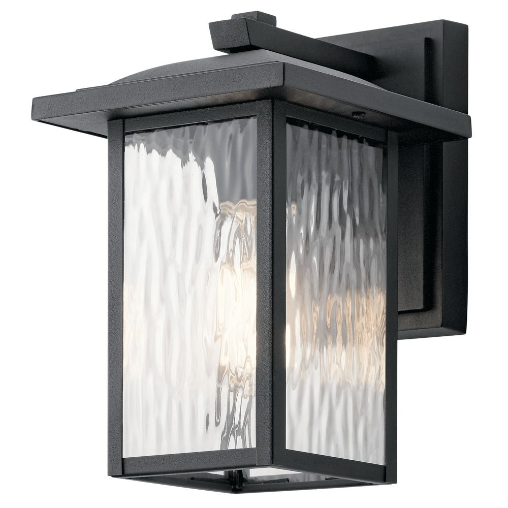 Recent Arts And Crafts Outdoor Wall Lighting Intended For Arts And Crafts Water Glass Outdoor Wall Light Black Capanna (Gallery 19 of 20)