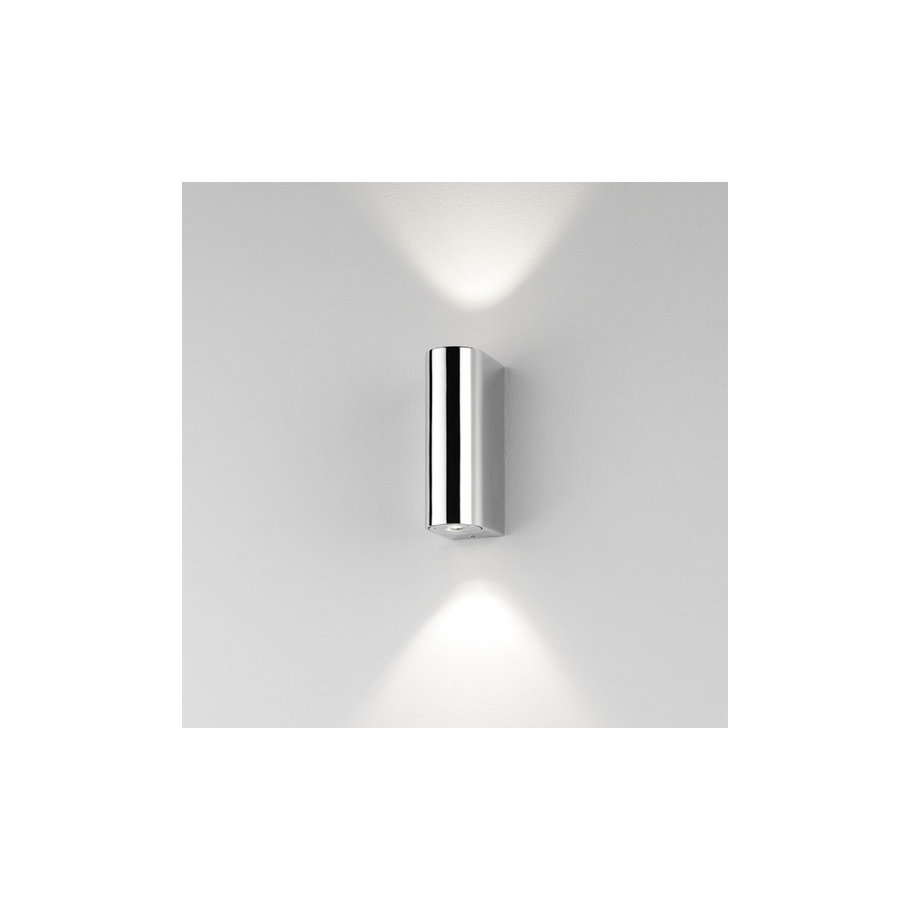 Recent Astro Lighting 0828 Alba Modern Led Double Bathroom Wall Light In Within Chrome Outdoor Wall Lighting (View 5 of 20)