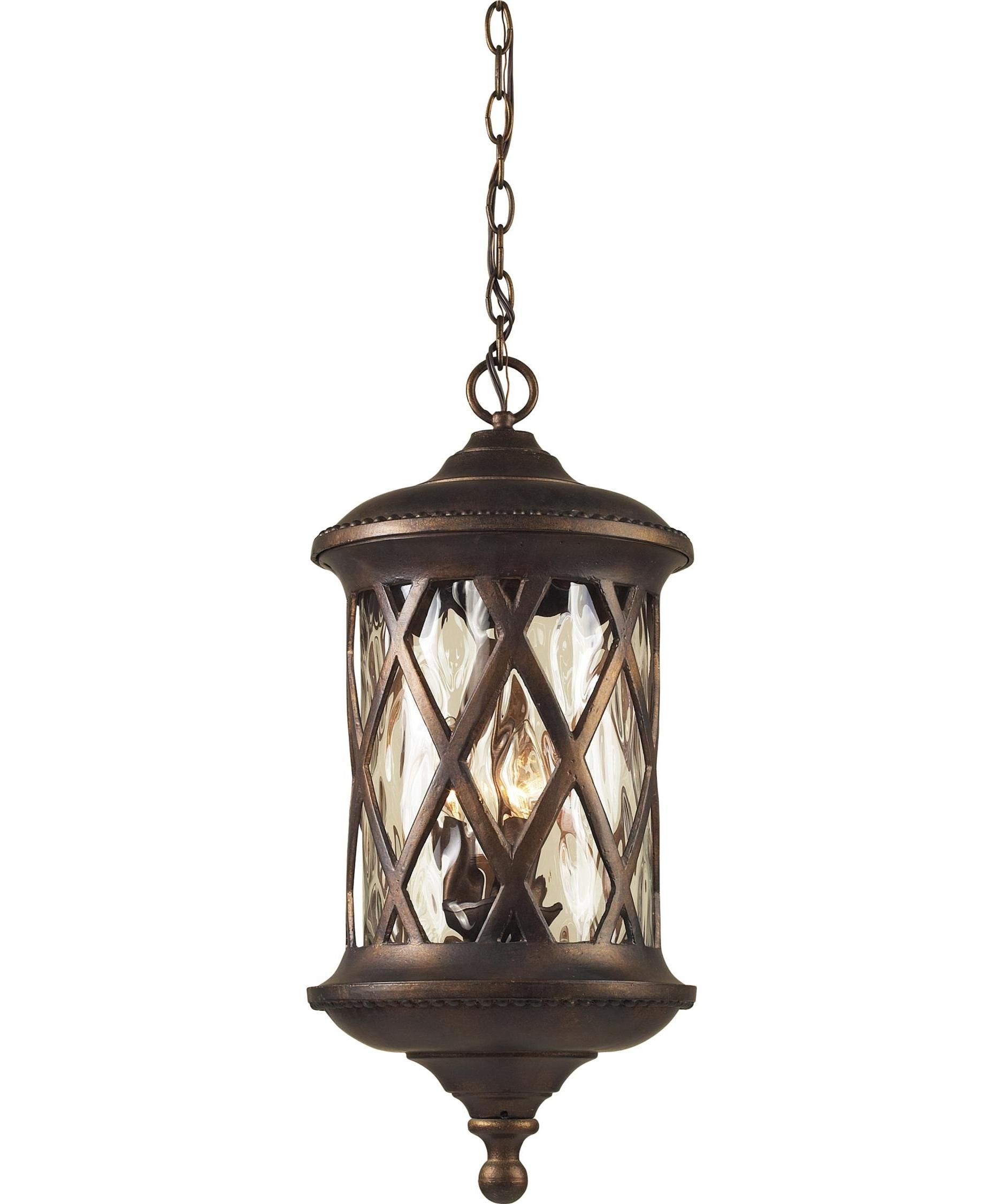 Recent Bronze Outdoor Hanging Lights For Elk Lighting 42033 3 Barrington Gate 11 Inch Wide 3 Light Outdoor (View 14 of 20)