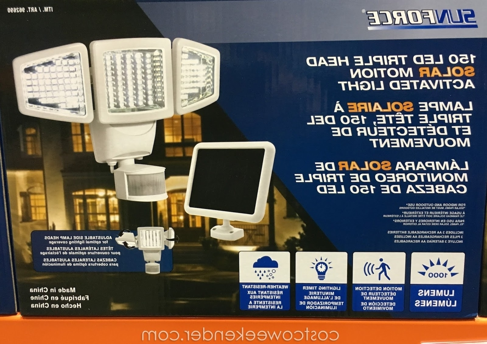 Recent Furniture : Sunforce Led Solar Motion Light Costco Outdoor Lights Regarding Solar Garden Lights At Costco (View 11 of 20)