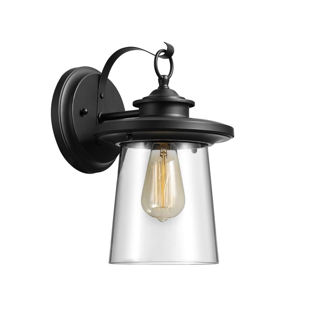 Recent Globe Electric Valmont 1 Light Black Outdoor Wall Mount Sconce 44170 Inside Outdoor Wall Mounted Globe Lights (View 14 of 20)