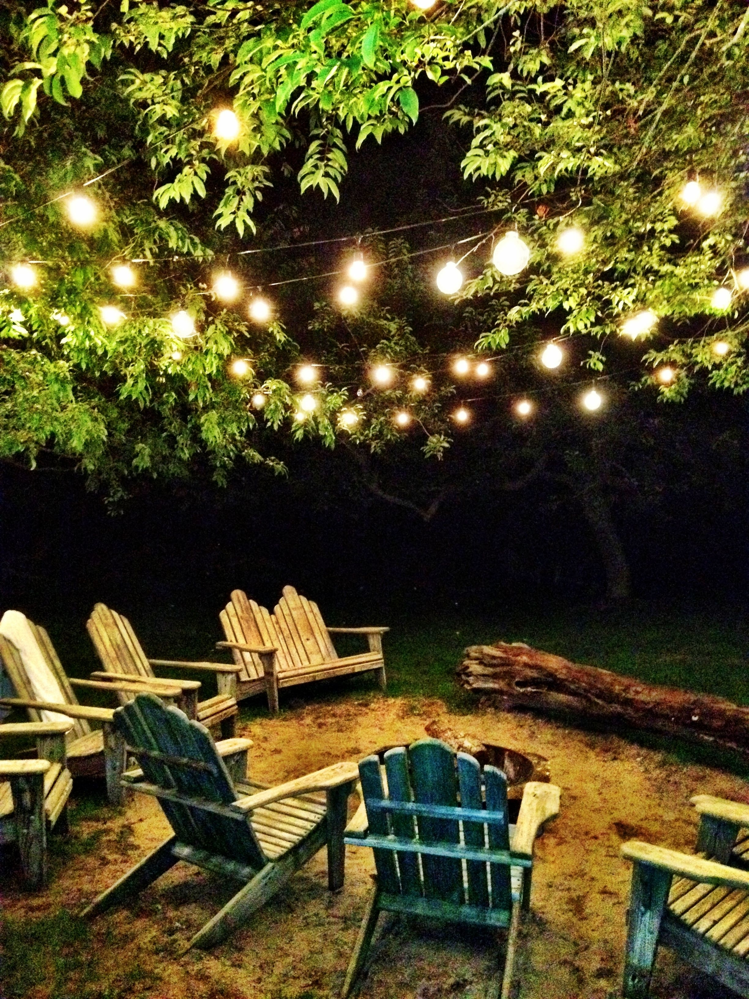 Recent Hanging Lights In Outdoor Trees Within Five Faves :: My Favorite Fire Pits {And Why (View 19 of 20)