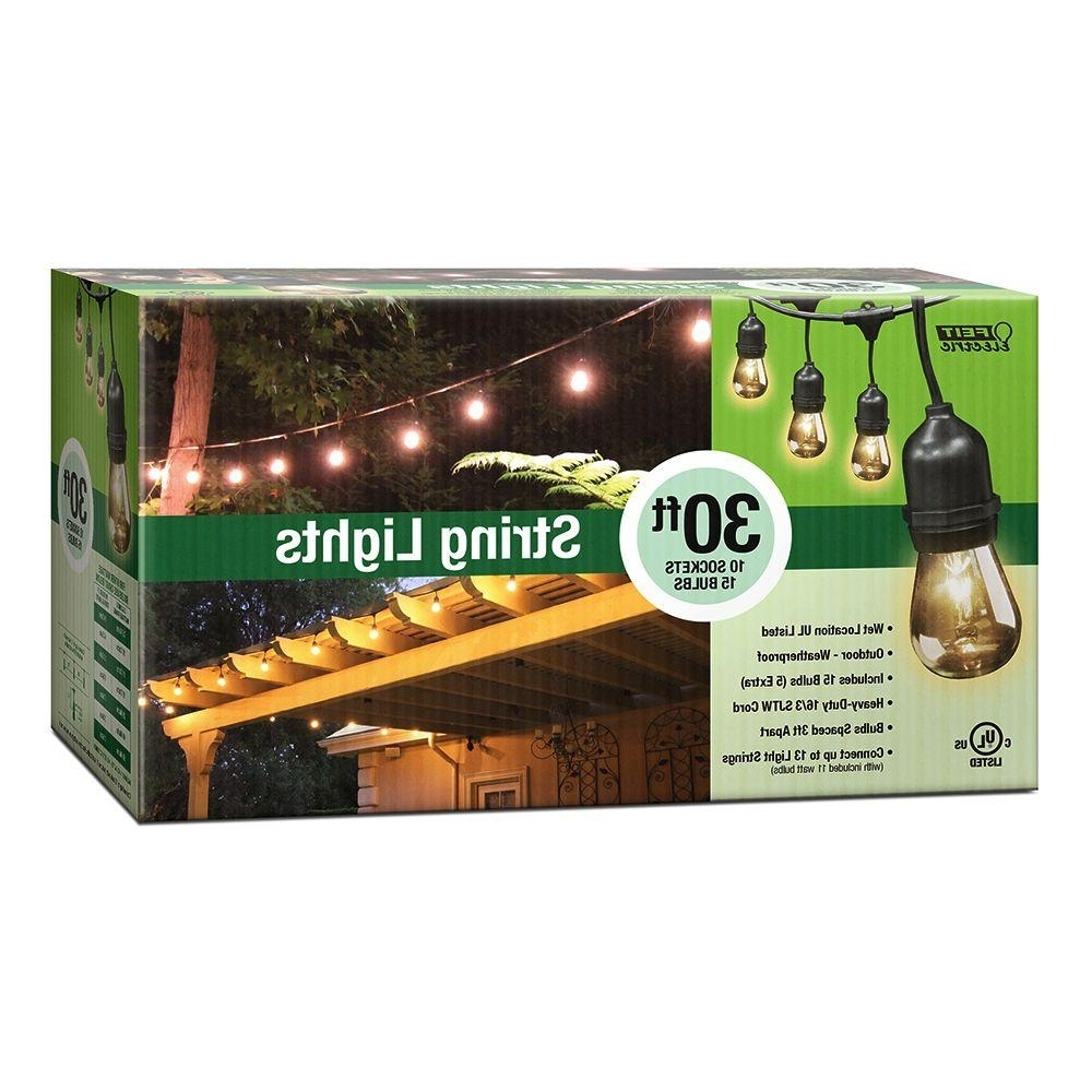 Recent Hanging Outdoor String Lights At Home Depot Regarding Feit Electric 30 Ft (View 15 of 20)