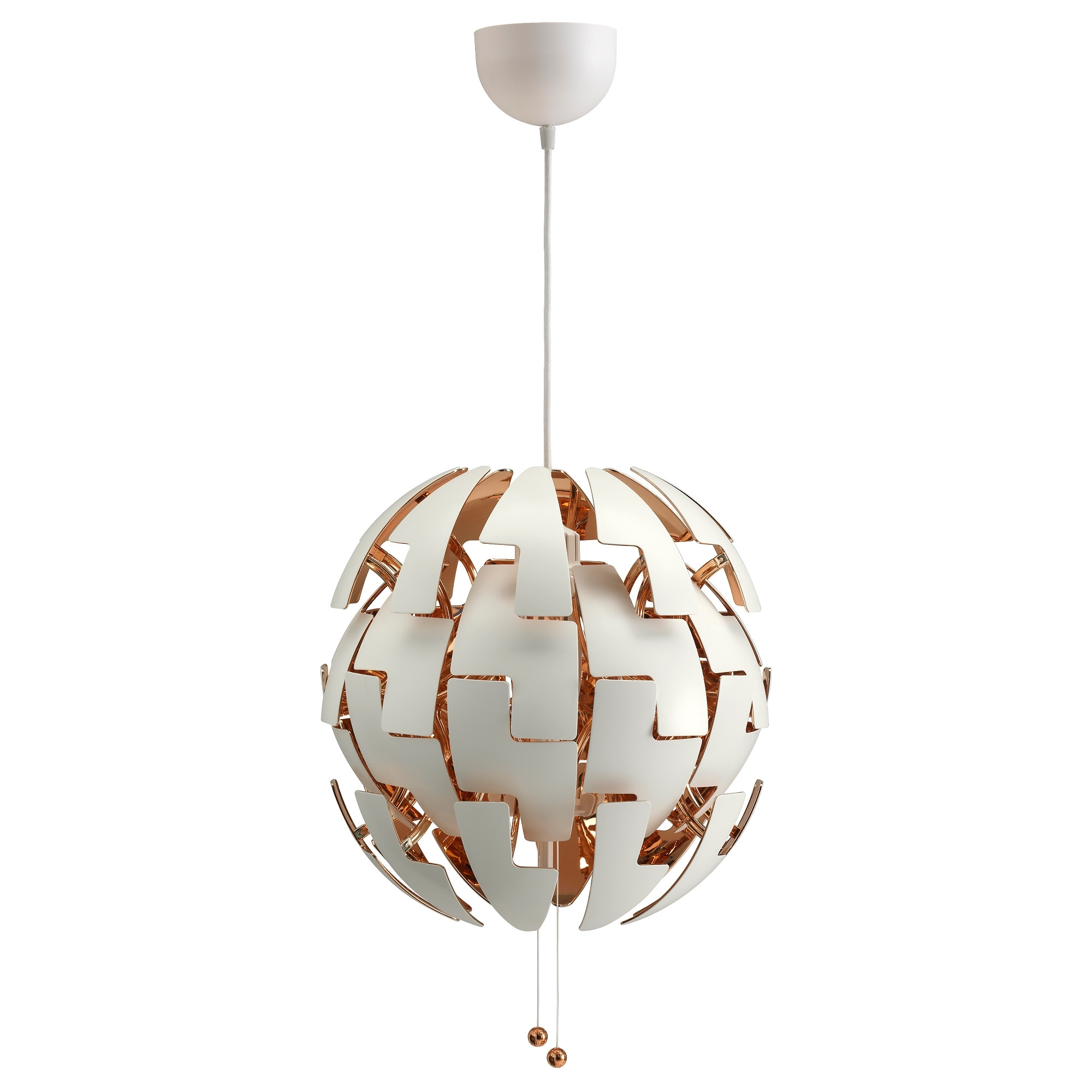 Recent Ikea Ps 2014 Pendant Lamp – White/copper Color – Ikea For Ikea Outdoor Hanging Lights (View 2 of 20)