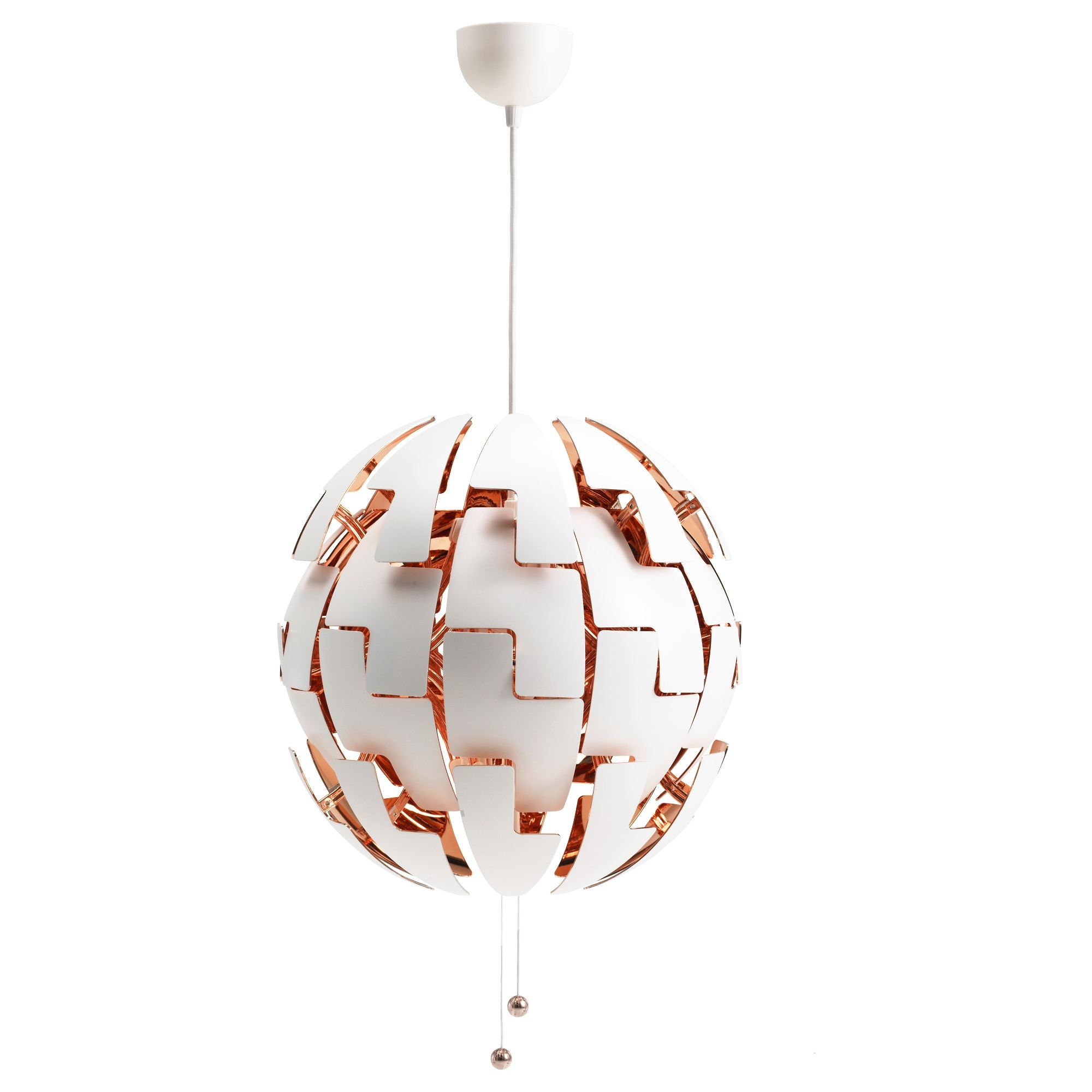 Recent Ikea Ps 2014 Pendant Lamp – White/copper Color – Ikea With Regard To Ikea Outdoor Hanging Lights (View 15 of 20)