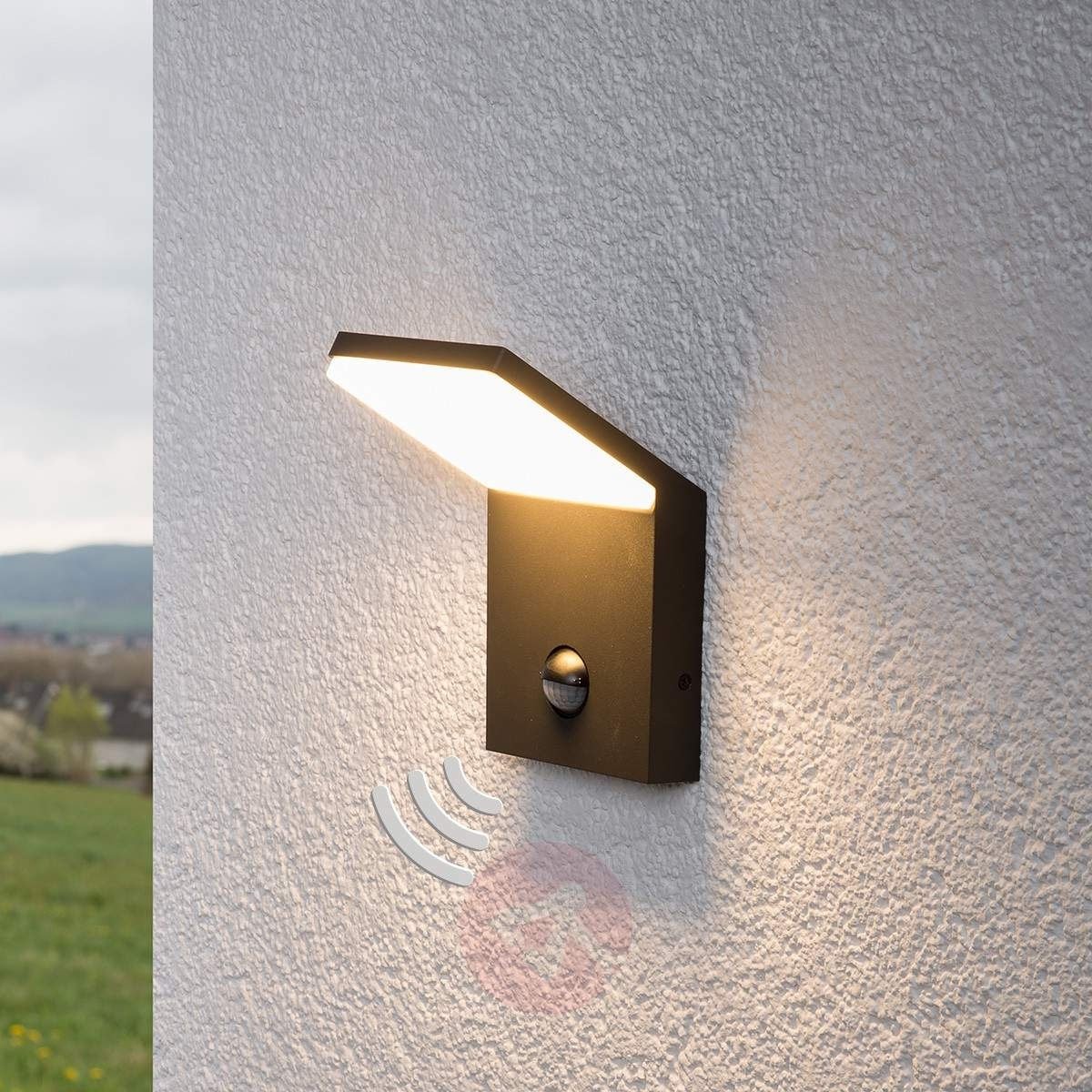 Recent Led Outdoor Wall Light Nevio With Motion Detector (View 7 of 20)