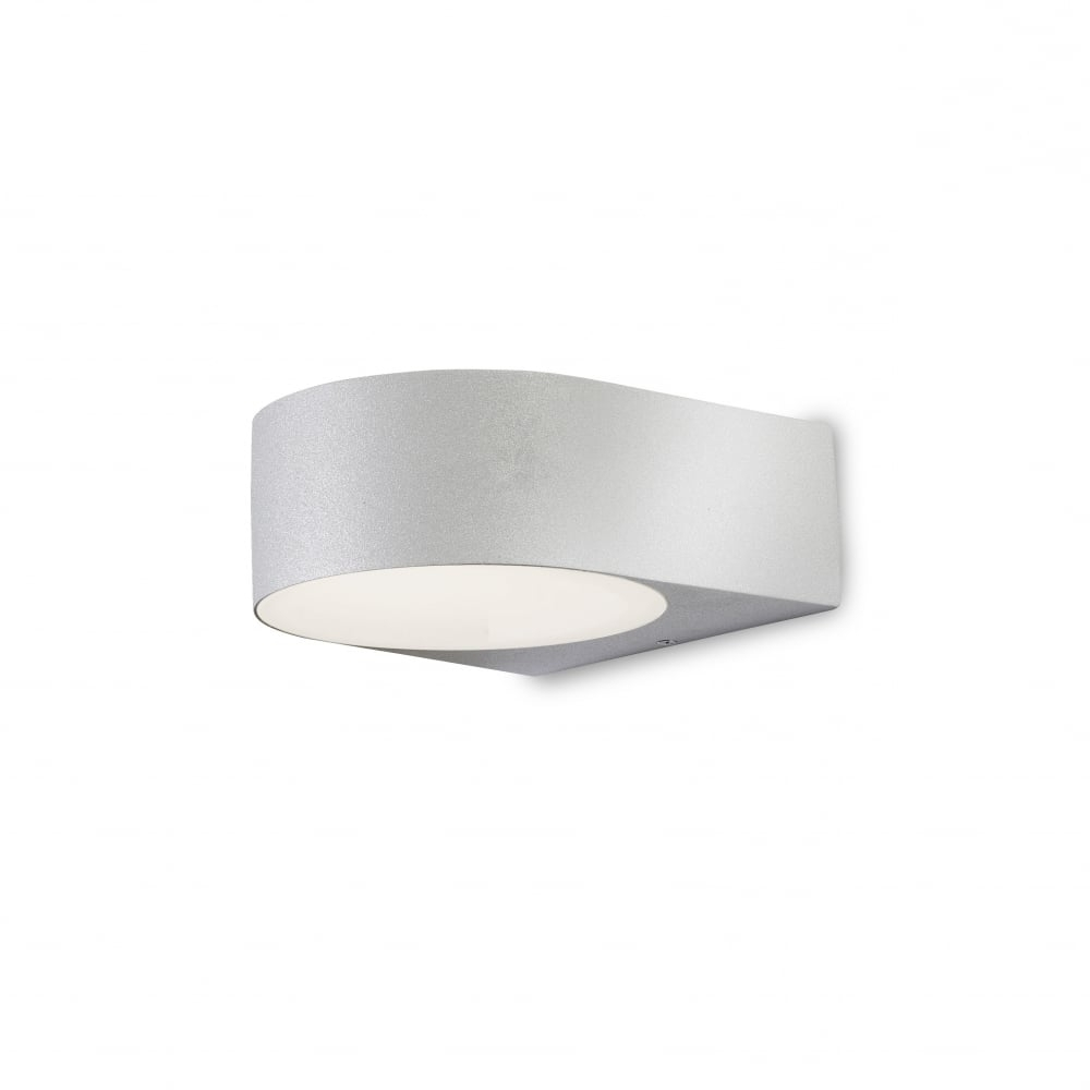 Recent Leds C4 Nemesis 05 9123 34 B8 Outdoor Wall Light In Aluminium Grey For Northern Ireland Outdoor Wall Lights (Gallery 17 of 20)