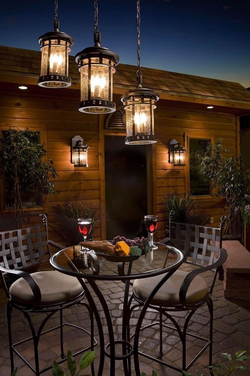 Recent Lighting : Tasty Outdoor Hanging Light Fixtures Collection For Intended For Rustic Outdoor Hanging Lights (View 14 of 20)
