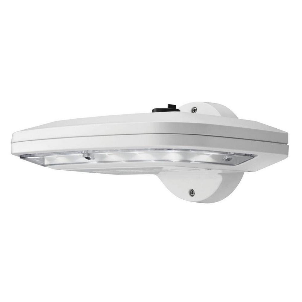 Recent Lithonia Lighting White Outdoor Integrated Led Wall Pack Light With With Regard To Outdoor Ceiling Lights With Photocell (Gallery 11 of 20)