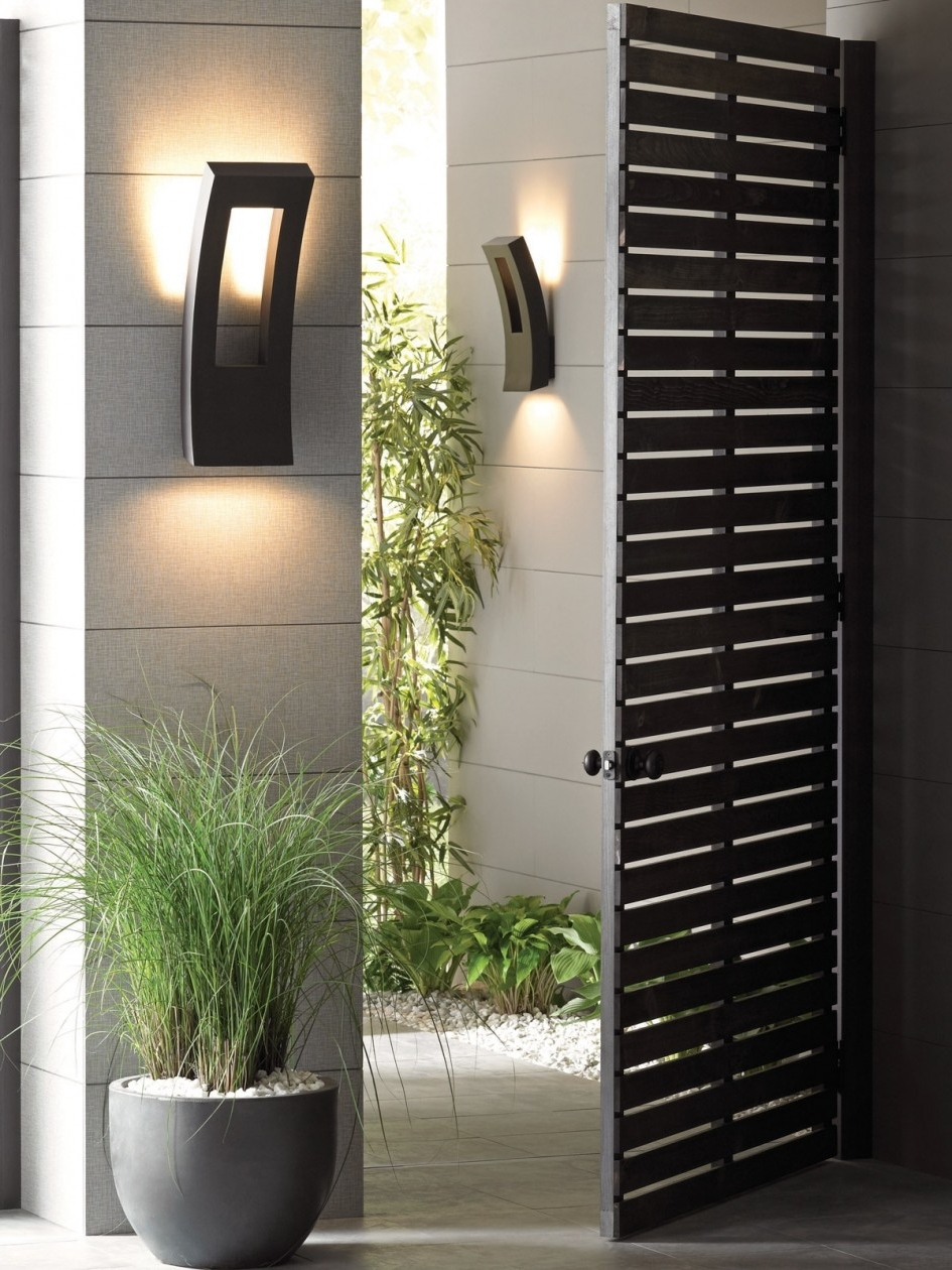 Recent Modern Outdoor Wall Lighting Intended For Glamorous Outdoor Wall Mounted Lighting Ideas – Outside Lights For (View 13 of 20)