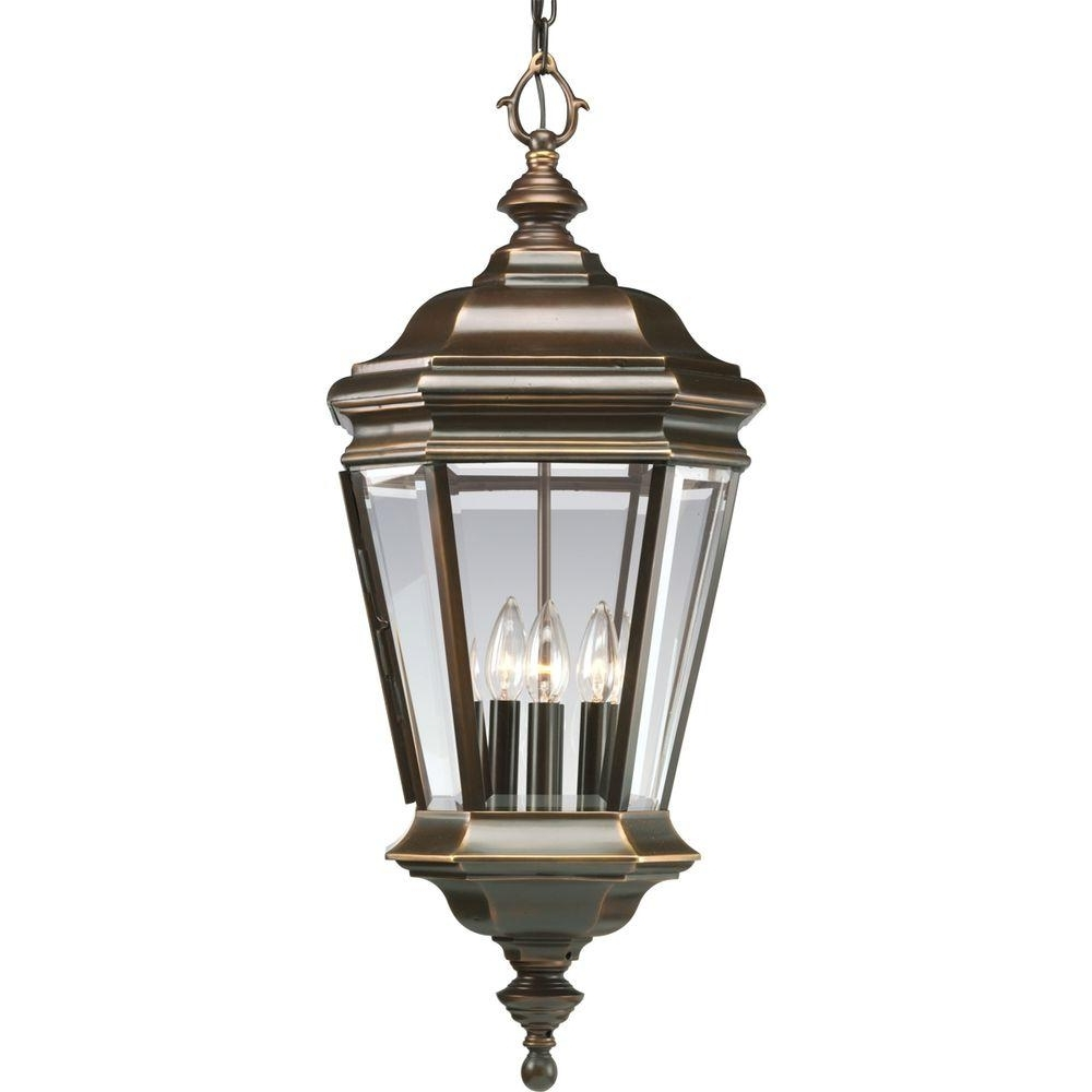 Recent Outdoor Hanging Coach Lanterns Throughout Progress Lighting Crawford Collection 4 Light Oil Rubbed Bronze (View 16 of 20)