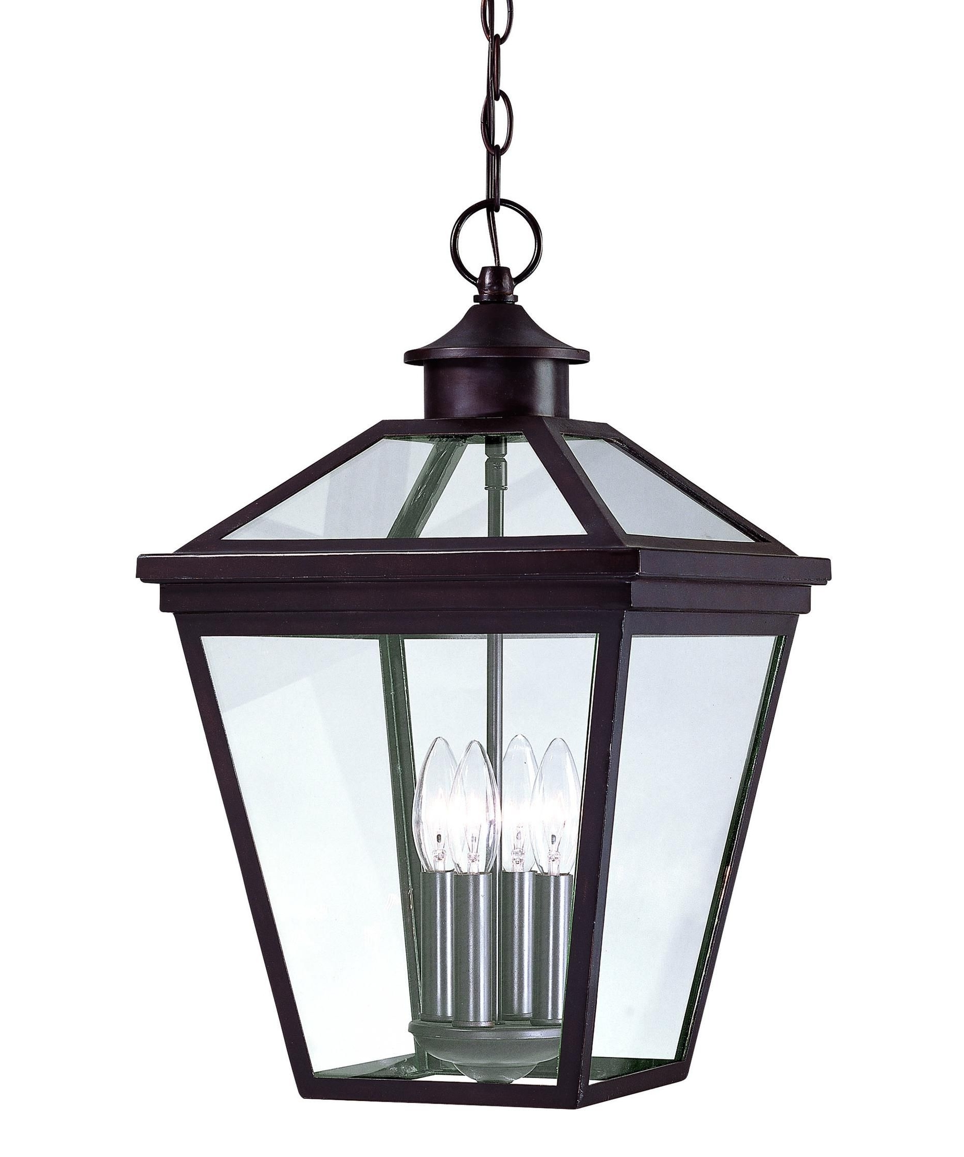 Recent Outdoor Hanging Lanterns Intended For Savoy House Ellijay 4 Light Outdoor Hanging Lantern (View 14 of 20)
