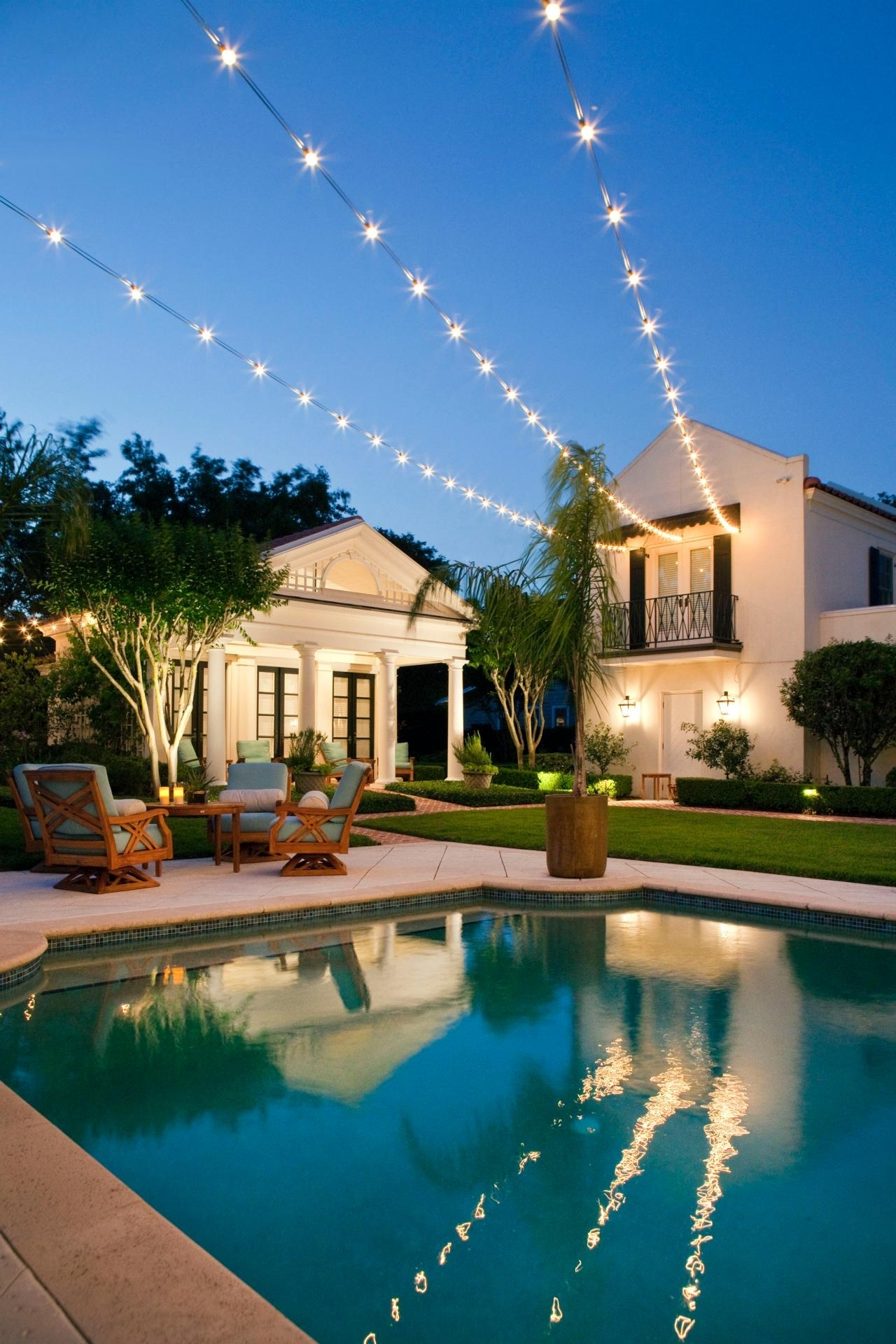 Recent Outdoor Hanging Pool Lights Within 10 Ways To Amp Up Your Outdoor Space With String Lights (Gallery 1 of 20)