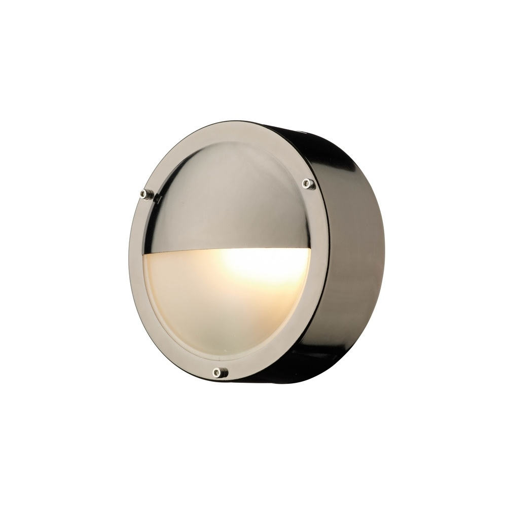 Recent Round Outdoor Wall Lights In Tah5067 Tahoe Round Eyelid Outdoor Wall Light In Black Chrome (View 15 of 20)