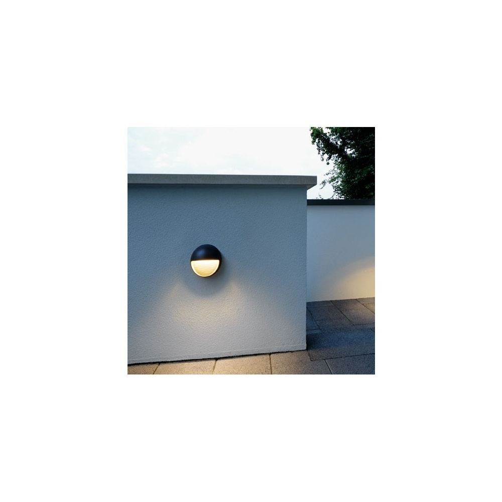 Recent Round Outdoor Wall Lights Inside Intalite 230862 Anthracite Led Downunder Round Warm White Outdoor (View 16 of 20)