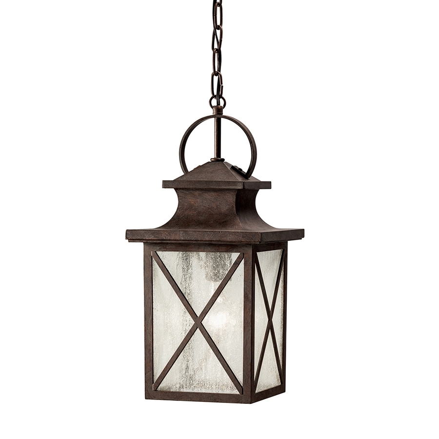Recent Shop Kichler Lighting Haven 17.17 In Olde Brick Outdoor Pendant Regarding Kichler Outdoor Ceiling Lights (Gallery 6 of 20)
