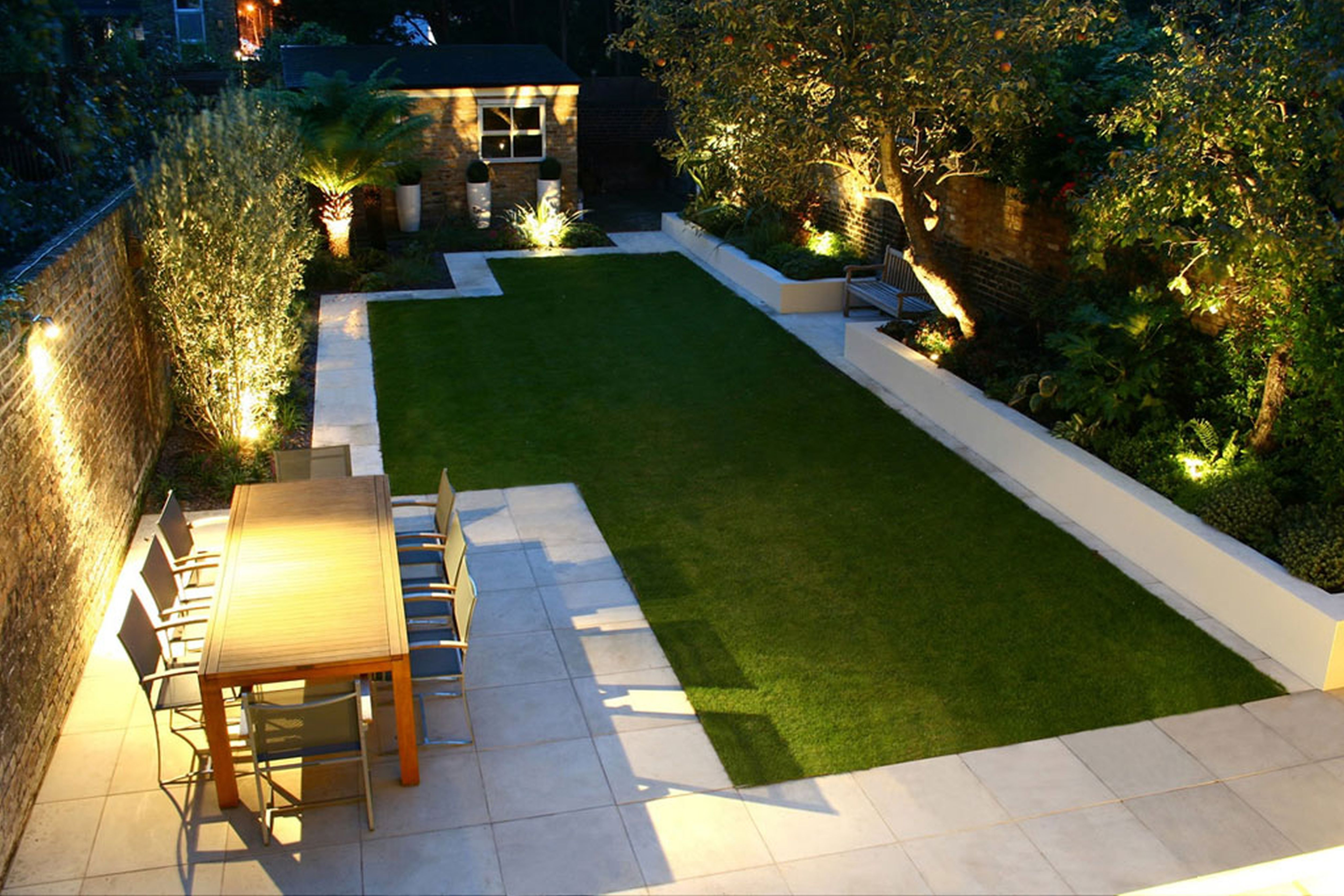 Recent Small Front Garden Border Re Design Modern Low Maintenance With In Contemporary Led Post Lights For Mini Garden (View 14 of 20)