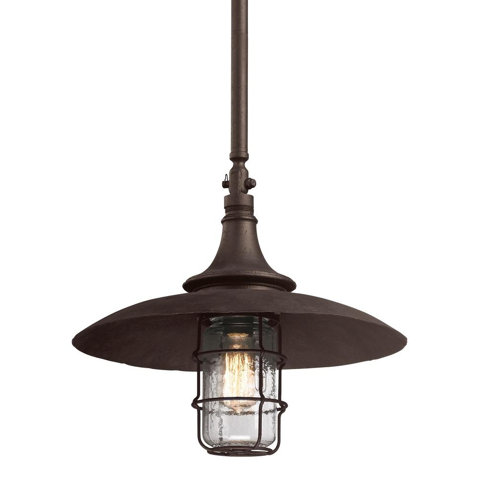 Recent Troy Lighting Allegany 1 Light Centennial Rust Outdoor Pendant F3229 Regarding Troy Outdoor Hanging Lights (View 10 of 20)