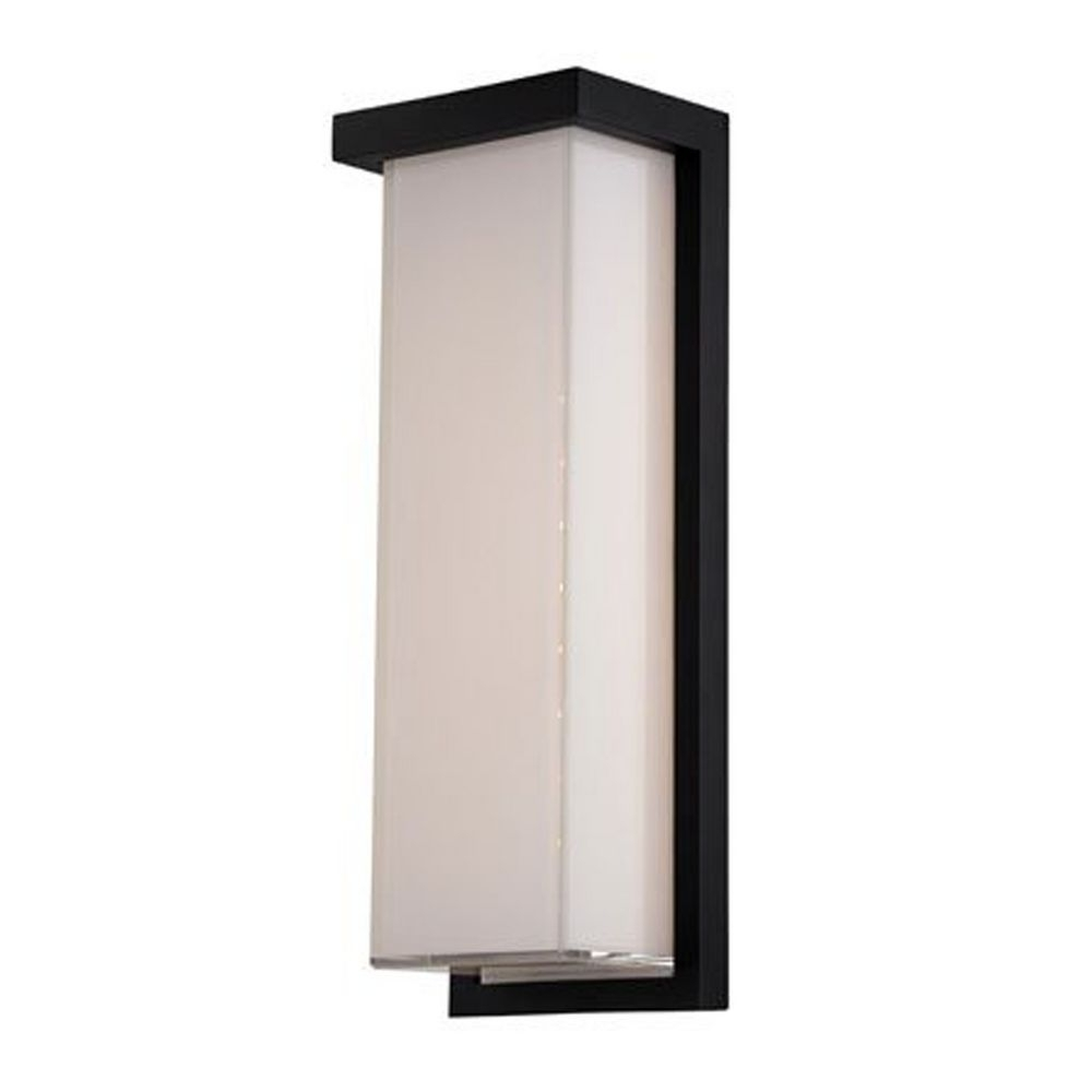 Rectangle Outdoor Wall Lights Intended For 2019 Modern Led Outdoor Wall Light In Black Finish (Gallery 3 of 20)