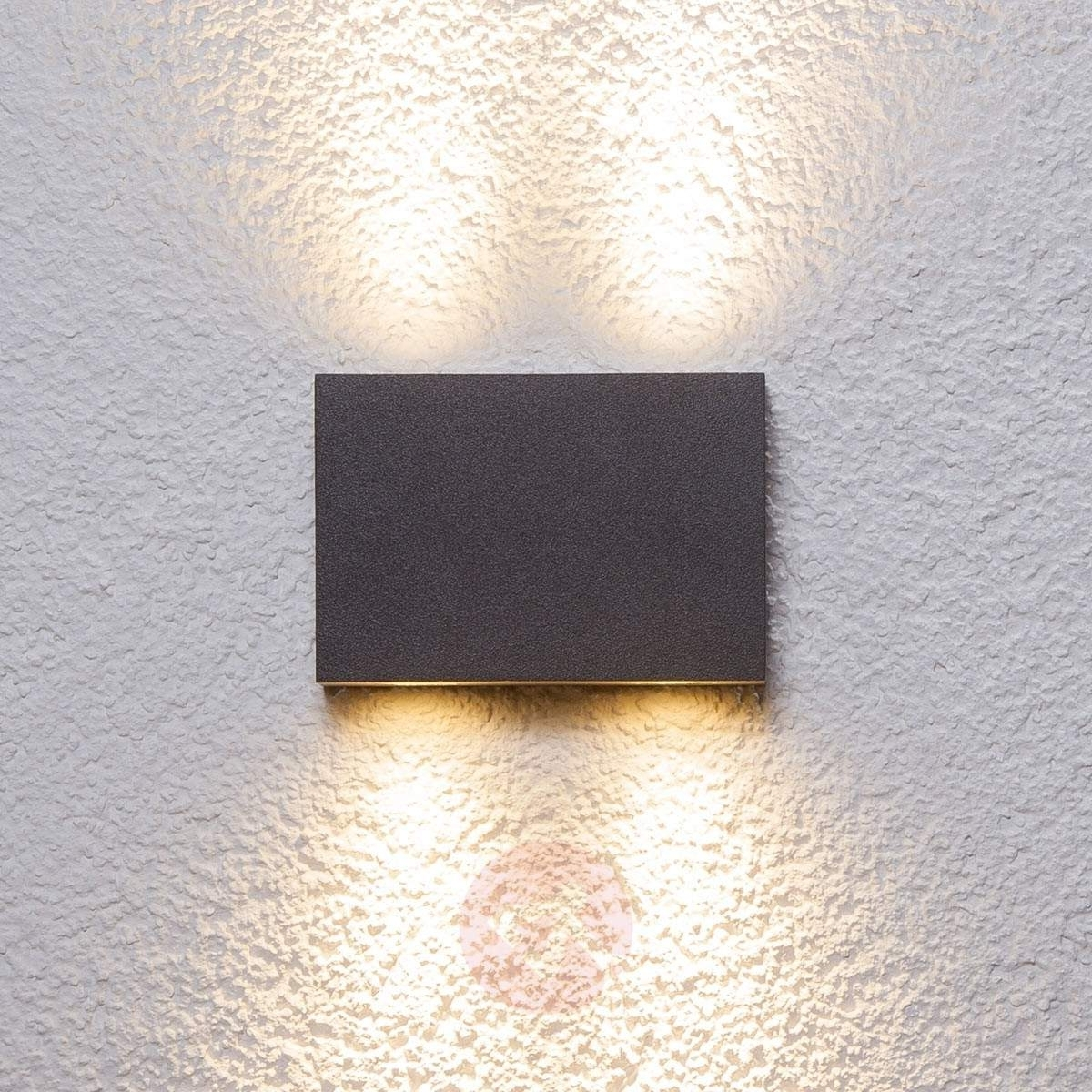 Rectangular Outdoor Wall Light Henor With 4 Leds (Gallery 17 of 20)