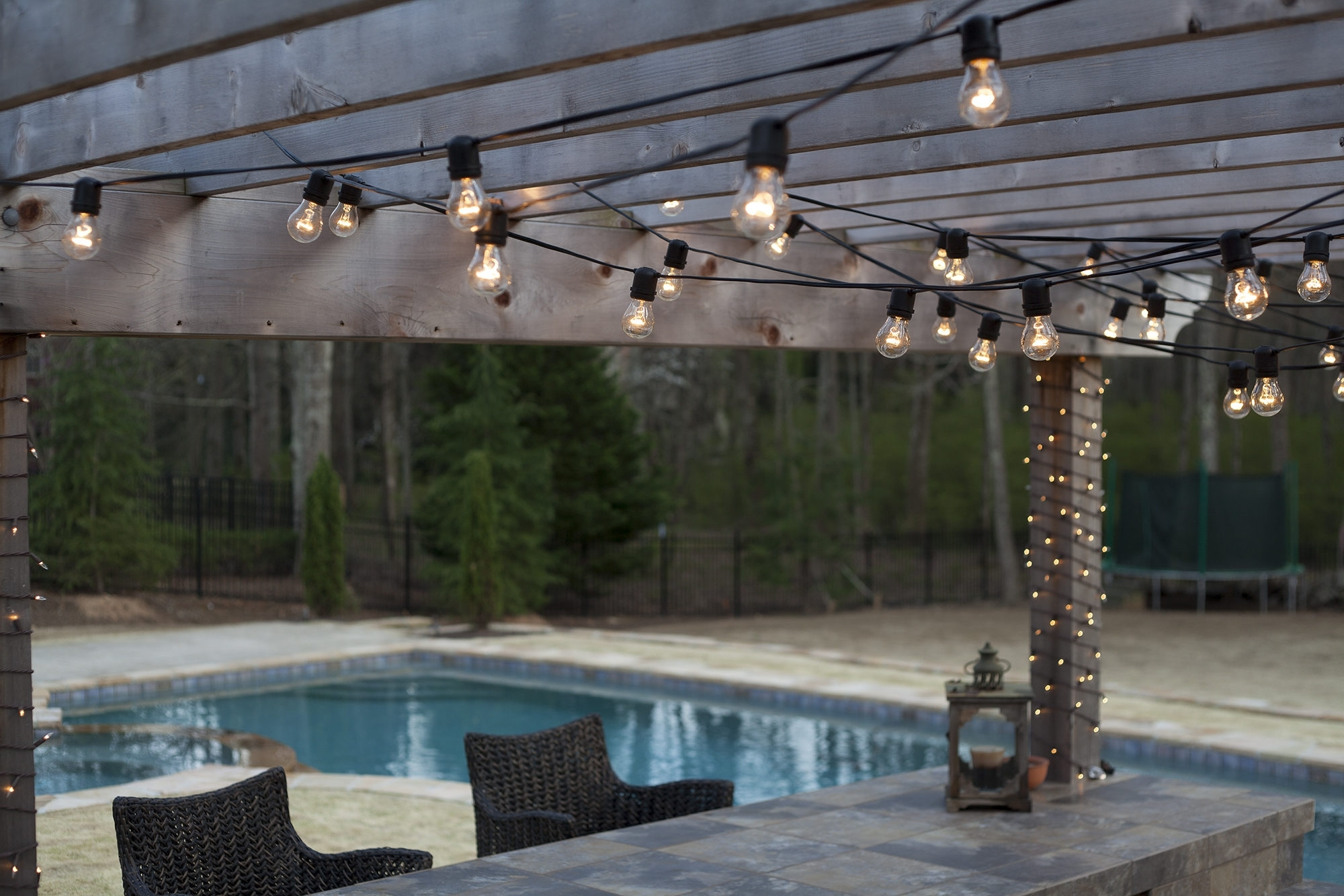 Red And Green Party Light Bulb String Lights Archives With Regard To Best And Newest Outdoor Hanging Pool Lights (View 17 of 20)