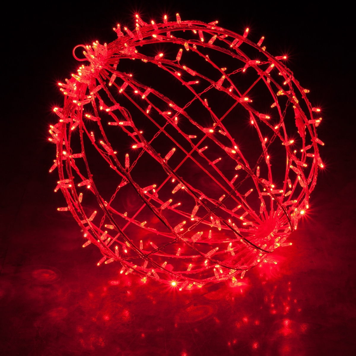 Red Led, Commercial Mega Sphere Christmas Light Ball, Fold Flat With Regard To Famous Outdoor Hanging Sphere Lights (View 13 of 20)