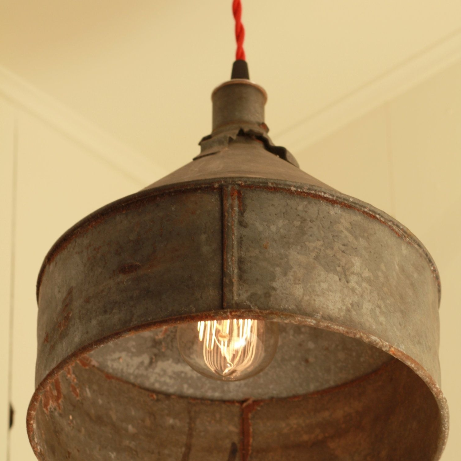 Reserved For Jacquidowd – Rustic Lighting With Vintage Rustic Funnel Within Trendy Vintage And Rustic Outdoor Lighting (View 5 of 20)