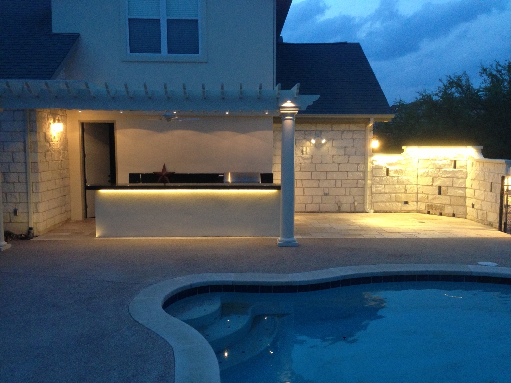 Residential Outdoor Wall Lighting With Widely Used Patio Wall Lights, Michigan Landscape Lighting Outdoor Lighting (View 8 of 20)