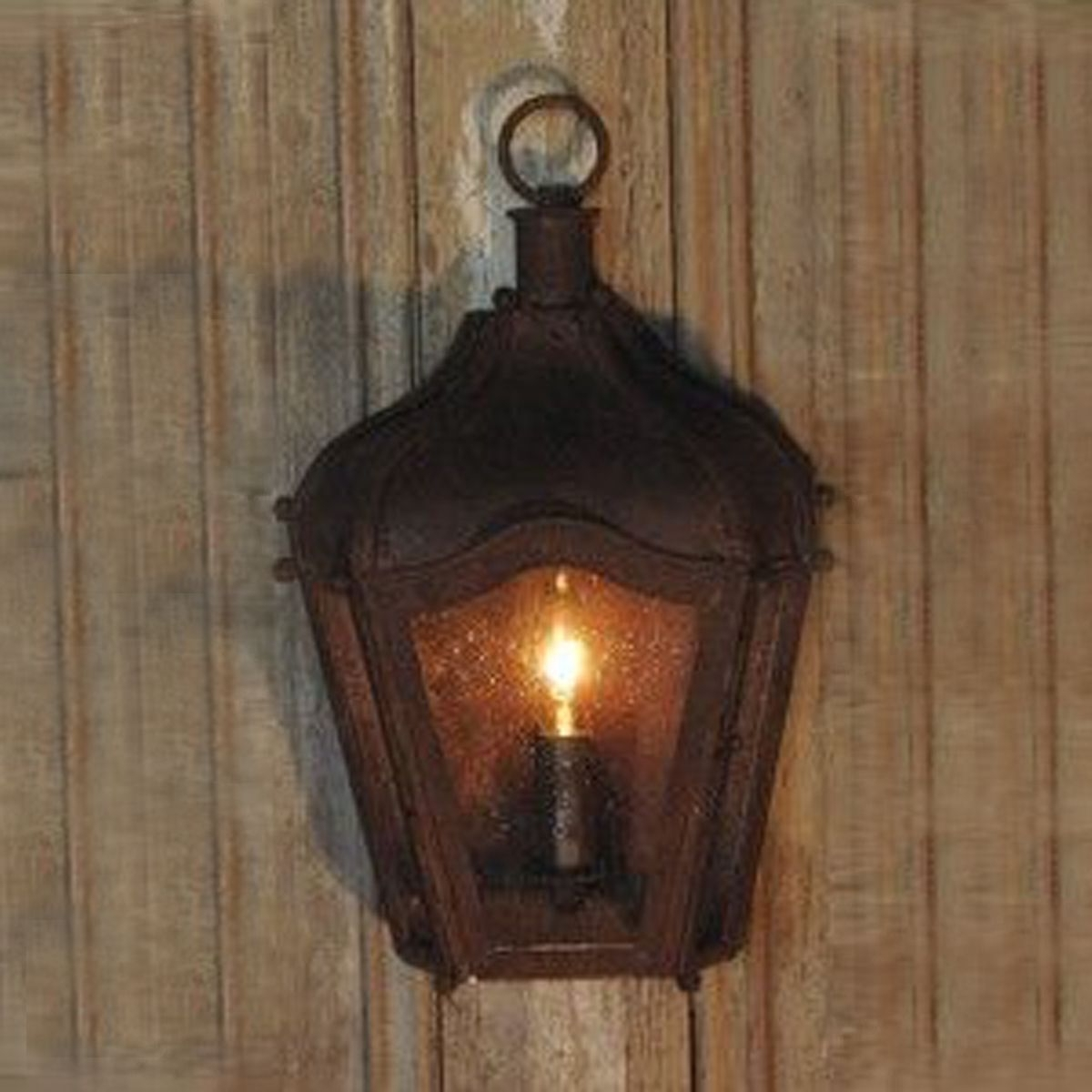 Rustic Brown Iron Carriage Wall Lantern Indoor/outdoor (View 17 of 20)