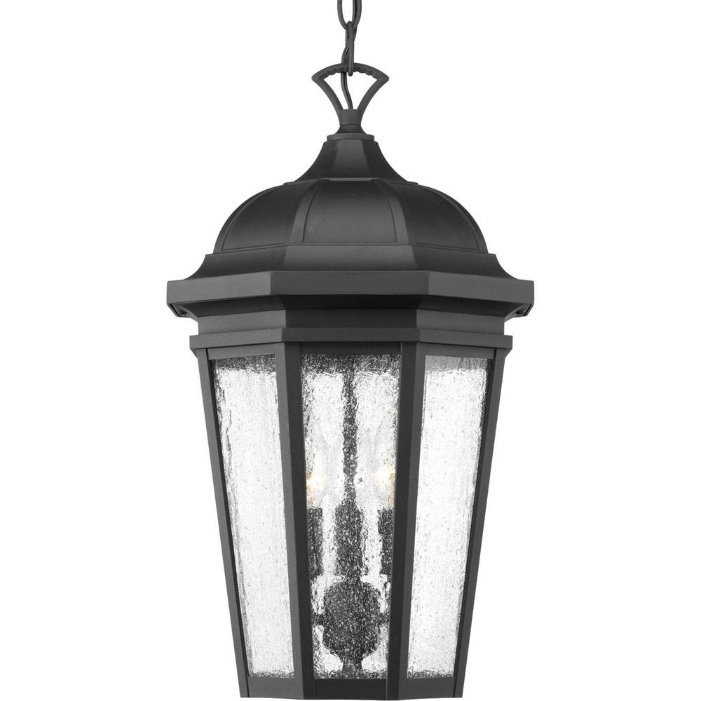 Rustic Outdoor Hanging Lights Pertaining To Most Popular Outdoor Ceiling Lighting The Home Depot Image With Extraordinary (View 15 of 20)