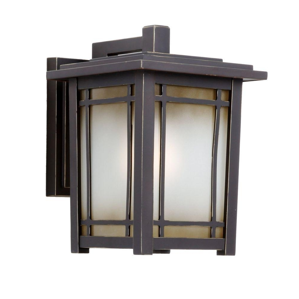 Rustic Outdoor Lighting At Home Depot Intended For Most Popular Home Decorators Collection Port Oxford 1 Light Oil Rubbed Chestnut (Gallery 1 of 20)