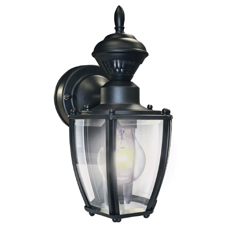 Rustic Outdoor Lighting At Wayfair Throughout Widely Used Shop Secure Home 11 In H Black Motion Activated Outdoor Wall Light (View 14 of 20)