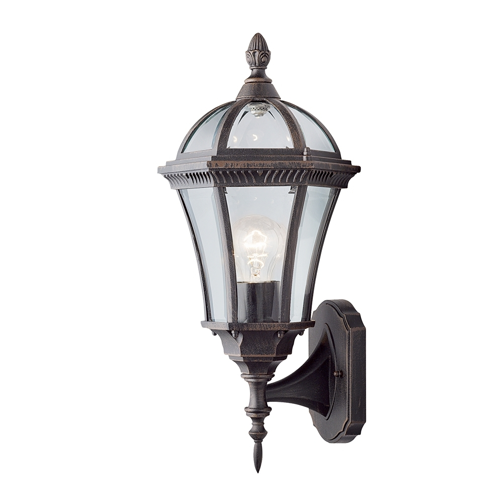 Rustic Outdoor Wall Lighting Intended For Newest Searchlight 1565 Capri Rustic Brown Upright Small Outdoor Wall Light (View 14 of 20)