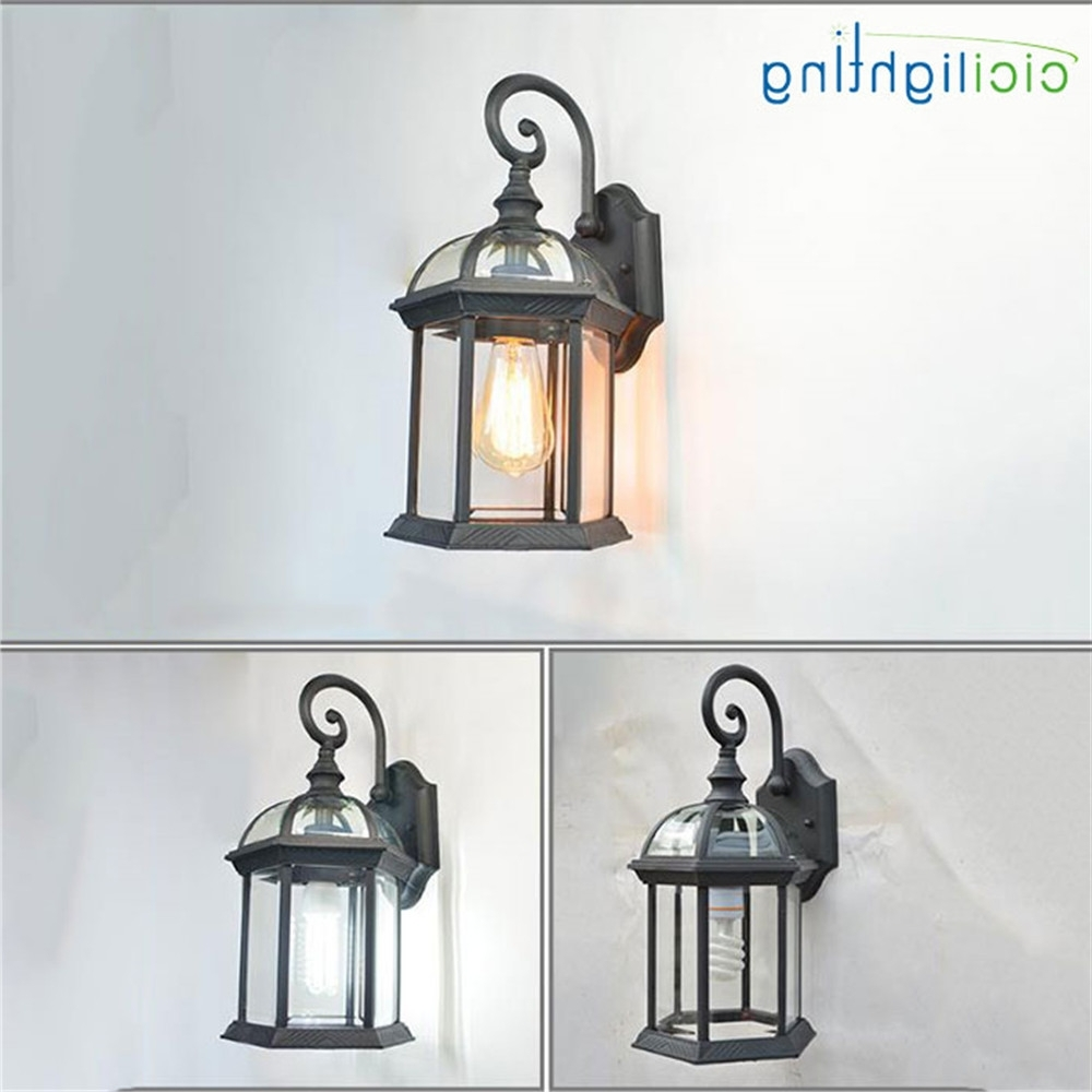 Rustic Waterproof Outdoor Wall Lamp Antique Outdoor Garden Lamps In Current European Outdoor Wall Lighting (View 14 of 20)