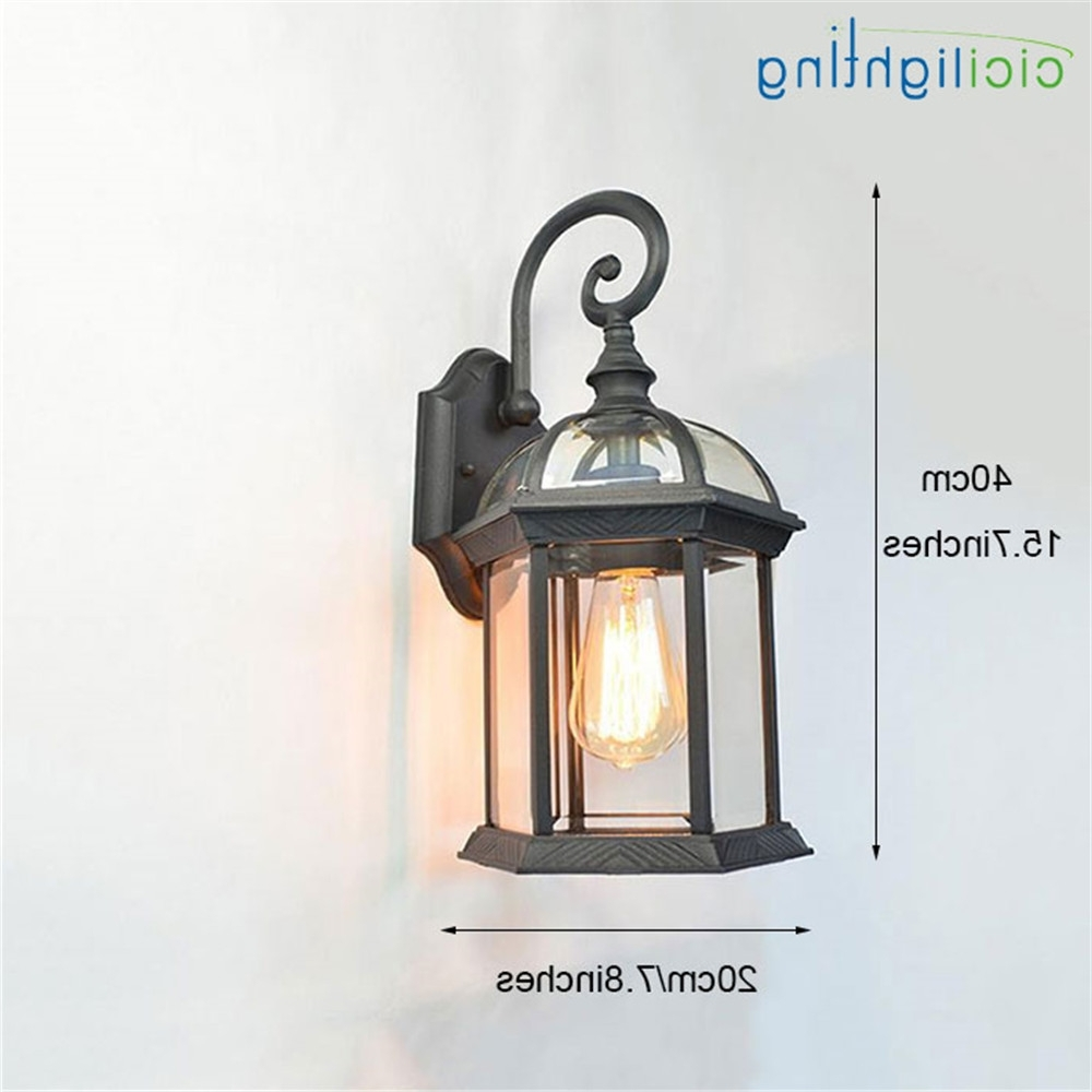 Rustic Waterproof Outdoor Wall Lamp Antique Outdoor Garden Lamps Throughout Popular European Outdoor Wall Lighting (Gallery 11 of 20)
