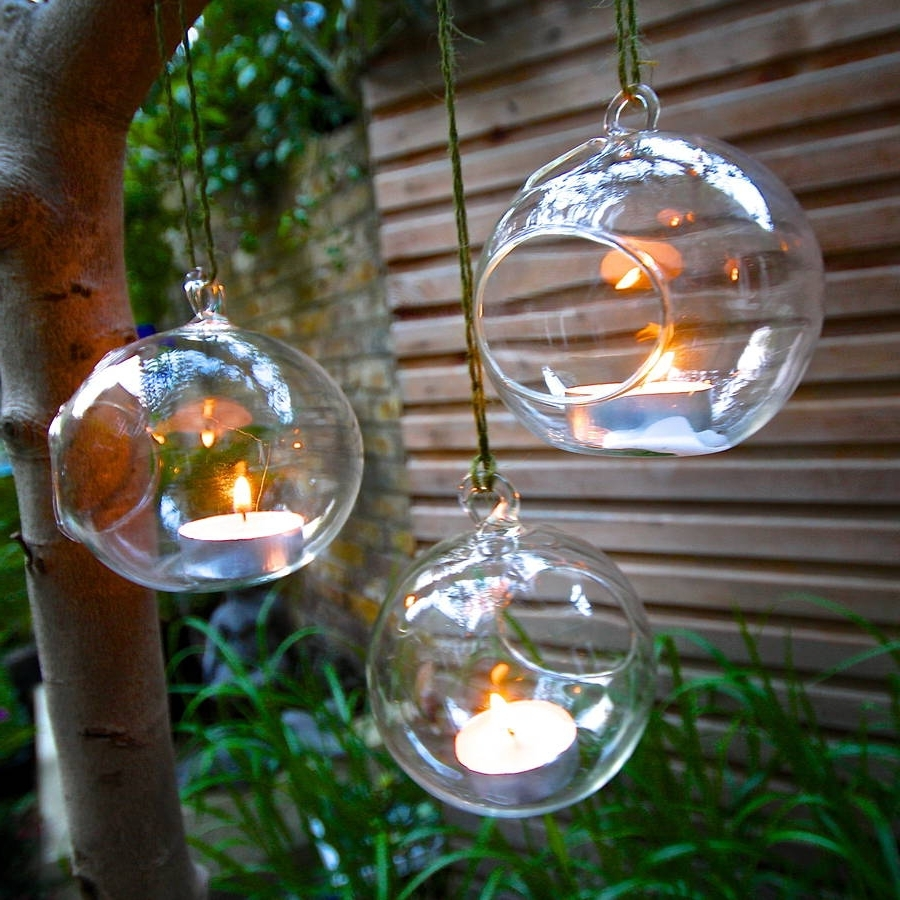 Set Of Four Hanging Tealight Votives (View 18 of 20)