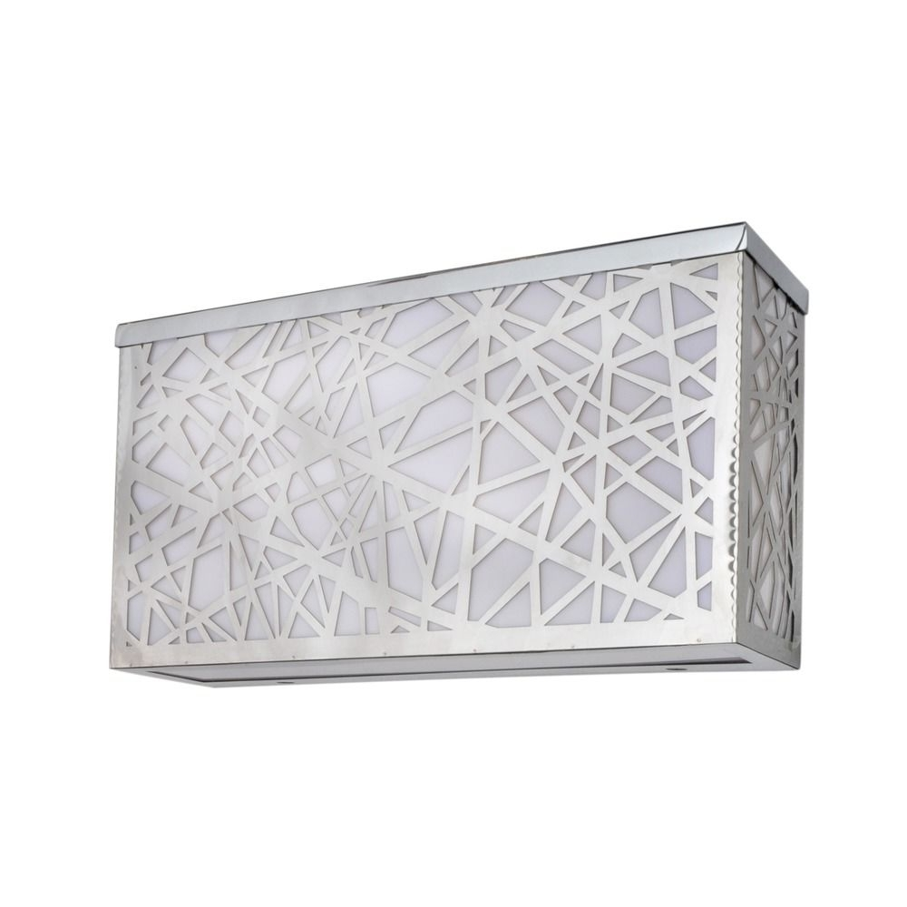 Severn Slatted Pir Outdoor Wall Light Satin Chrome, Outdoor Lighting Inside Most Up To Date Outdoor Wall Lights At Wickes (View 19 of 20)