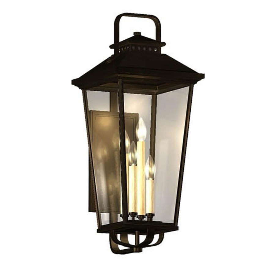 Shop Allen + Roth Parsons Field 17 In H Black Outdoor Wall Light At With Regard To Best And Newest Outdoor Wall Lights In Black (View 19 of 20)